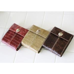 (2BUY20%OFF対象商品)クロコ型押しクラッキングレザー かぶせ財布(AinSoph アインソフ プレゼントにお勧め)(送料無料) curicolle