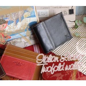 イタリアCONCERIA社フルタンニンなめし革使用・レザー二つ折り財布[AinSoph・アインソフ・プレゼントにお勧め]【送料無料】|curicolle