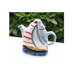セイリングボート・コレクタブルティーポット|curicolle