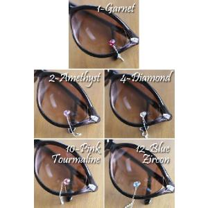 (半額セール)メガネ&サングラス用ジュエリー EyeJewel イミテーションストーンwithチェーン(返品 交換 ギフト包装不可)|curicolle