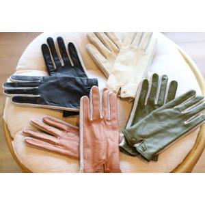 【激安セール】サイドニット・レザーグローブ(革手袋)(返品・交換・ギフト包装不可)|curicolle