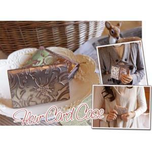フルール カードケース(レザー 革製名刺入れ)(COQUETTE コケット プレゼントにお勧め)(送料無料)|curicolle