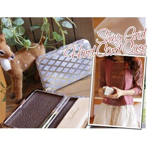 シャイニーグリッド カードケース(革製ハードタイプ名刺入れ)|curicolle