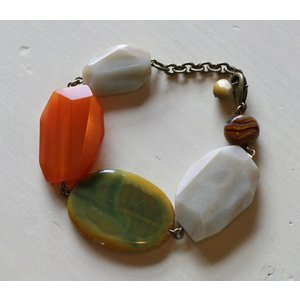 めのうブレスレット[天然石&AntiqueBeadsシリーズ]|curicolle