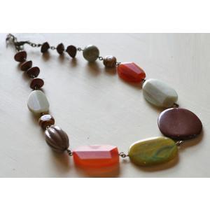 めのうネックレス[天然石&AntiqueBeadsシリーズ]|curicolle