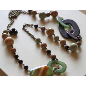 イタリアンパーツ&めのう・ネックレス[天然石&AntiqueBeadsシリーズ]【送料無料】|curicolle