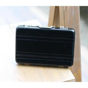 ☆3個まで郵送OK☆アルミアタッシュケースデザイン!カードケース(名刺入れ)♪カラー:ブラック(返品・交換・ギフト包装不可)|curicolle