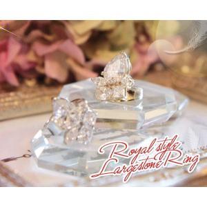 ロイヤルスタイル ラージストーンリング(指輪)|curicolle