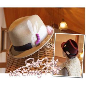 バニープリントの中折れ帽子(ハット)|curicolle