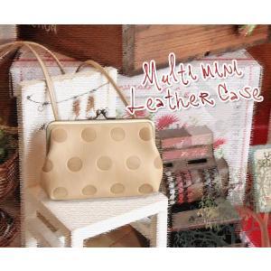 キャンディ・デジカメポシェット(革製ミニポシェット/マルチポーチ/がま口/ホワイトデーのプレゼントにお勧め)[Kanmi./カンミ]