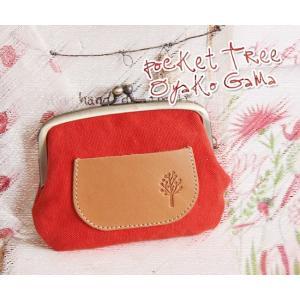ドロップツリー・ポケット親子ガマグチ財布(帆布×本革ポケットがま口財布/プレゼントにお勧め)[Kanmi./カンミ]|curicolle