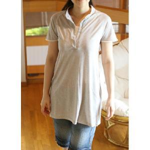 (激安セール)ポロシャツ半袖チュニック(HKF)|curicolle