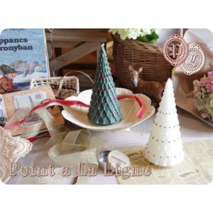 クリスマスツリー キャンドルM(ポワンタラリーニュのインテリアキャンドル) (返品 交換 ギフト包装不可)|curicolle