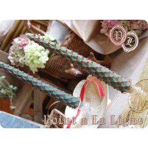 クリスマスツリーロングキャンドル(ポワンタラリーニュのインテリアキャンドル)(返品 交換 ギフト包装不可)|curicolle