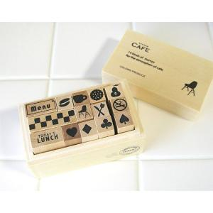 【激安セール】カフェ[ウッドボックス入り]スタンプセット[HFK]|curicolle