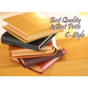【激安セール】カーフスキン&ヌメ革の上質・C-style・二つ折り財布[HFK]|curicolle