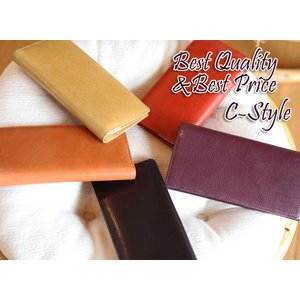 【激安セール】カーフスキン&ヌメ革の上質・C-style・長財布[HFK]|curicolle
