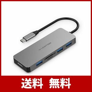 LENTION USB Type-C ハブ 6 in 1 4K HDMI Micro SD/SDカー...
