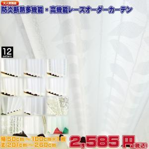 レースカーテン UVカット 防炎 断熱 遮像 花粉キャッチ等 高機能なオーダーカーテン 日本製 幅5...