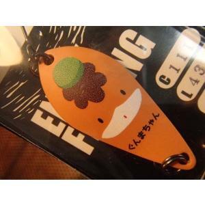 トラウトスプーン アルフレッド 43mm/7g カラー 111 ぐんまちゃん  裏面・オレンジ 群馬県製!|curtiscreek
