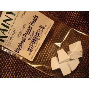 バスバグのタイイングに レイニーズ ブロックヘッド・ポッパーヘッズ ミディアムサイズ ホワイト|curtiscreek