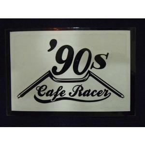 Cafe Racer カフェレーサー 90's オリジナルステッカー 黒抜き オートバイに!|curtiscreek