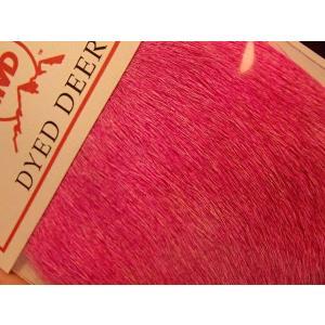 バスバグのタイイングに ロッキーマウンテン ディアヘア ブリーチダイド 蛍光ピンク|curtiscreek