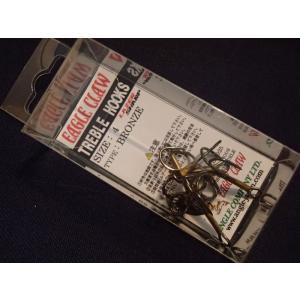 トリプルフック イーグルクロー ブロンズ #4 オールドルアーのリプレイス用フックに!|curtiscreek