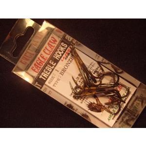 トリプルフック イーグルクロー ブロンズ #1 オールドルアーのリプレイス用フックに!|curtiscreek