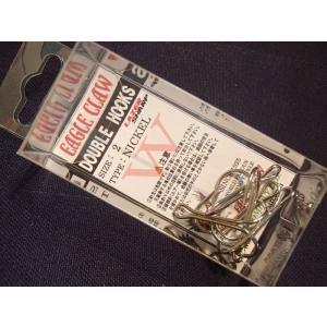 ダブルフック イーグルクロー ニッケル #2 オールドルアーのリプレイス用フックに!|curtiscreek