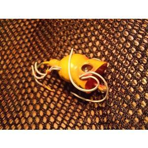 バスバグ アーボガスト フライロッド・フラポッパー レギュラーサイズ イエロー コルク製 オールド品 その1 |curtiscreek