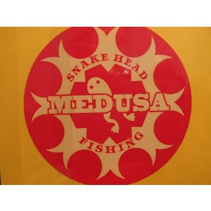 ライギョ釣り アクセサリー メデューサ MEDUSA ステッカー 2枚組 curtiscreek