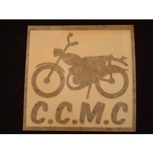 C.C.M.C. モーターサイクル オリジナルステッカー 黒抜き オートバイに!|curtiscreek