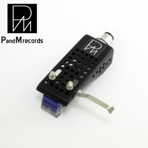 ブラックヘッドシェル PandM Records ヘッドシェル付きMM型国産カートリッジpms01|customfan