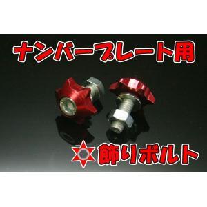 ATV 四輪バギー トライク ナンバー カウル ボルト M6赤 メール便|customlife