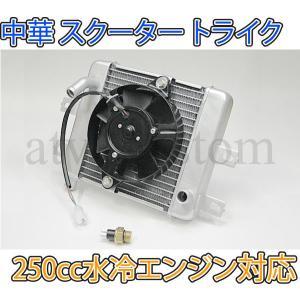 250cc中華トライク 水冷エンジン ラジエーター 電動ファン ラジエター|customlife