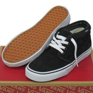 VANS ( バンズ ヴァンズ ) Chukka Boot BLACK/WHITE オールスェードレザー ( 22.5-30cm ) ( スケートボード スケボー シューズ 靴 メンズ レディース チャッカ cutback2