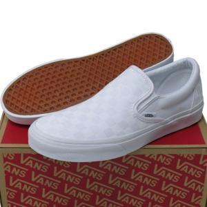 バンズ VANS Classic Slip-On True White/True White Ccheckerboard ヴァンズ クラシック スリッポン チェック USA企画 シューズ スニーカー cutback2