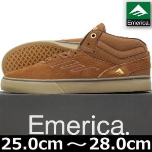 emerica エメリカ Westgate Mid Vulc Brown/Gum スケートボード スケボー ウエストゲート スケシュー シューズ スニーカー|cutback2