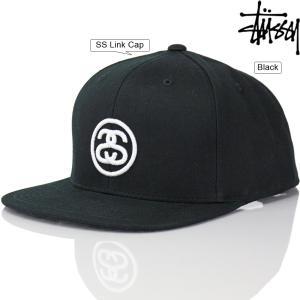 キャップ 帽子 STUSSY ステューシー SS Link Cap Black エスエス リンク ストリート ファッション メンズ|cutback2