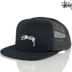 メッシュキャップ 帽子 Stussy ステューシー Stock Foam Twill Trucker Cap ブラック ストック|cutback2