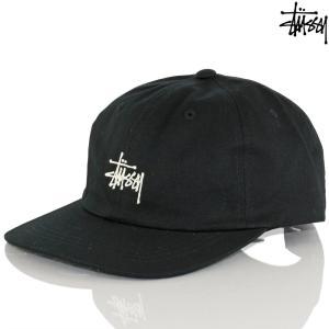 キャップ 帽子 Stussy ステューシー Stock Low Pro Cap Black / Navy ストック ブランド ロゴ|cutback2