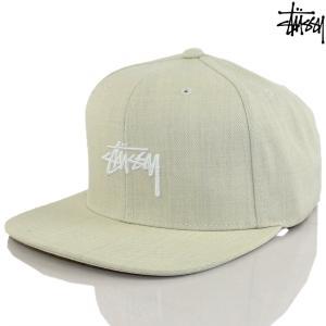 キャップ 帽子 Stussy ステューシー Stock Cap グレーヘザー ストック ストリート ファッション スナップバック メンズ|cutback2