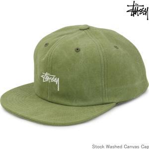 キャップ 帽子 Stussy ステューシー Stock Washed Canvas Cap オリーブ ストック ストリート ファッション メンズ 131869|cutback2