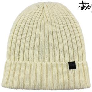 ニット帽 ビーニー Stussy ステューシー Simple Wool Cuff Beanie オフホワイト シンプルウールカフ ブランド メンズ レディース|cutback2