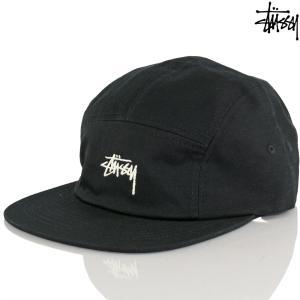 キャップ 帽子 Stussy ステューシー Stock Camp Cap ブラック ストック キャンプ ブランド|cutback2
