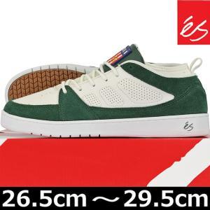 es エス SLB MID White/Green シューズ スニーカー スケートボード スケボー スケシュー サル バービア|cutback2