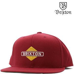 BRIXTON ブリクストン キャップ Brink Snap Back Cap (バーガンディ) ブリンク 帽子|cutback2