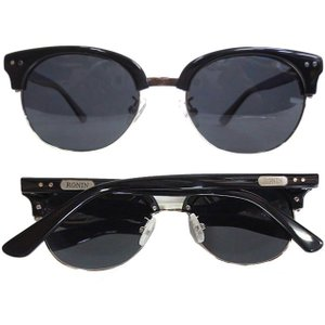 Ronin Eyewear ( ロニンアイウェアー ) 50/50 シャインブラックフレーム グレー...