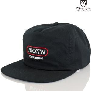 帽子 キャップ Brixton ブリクストン Equipped HP Snapback Cap ブラック イクイップ ブランド ファッション メンズ レディース|cutback2